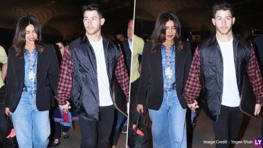 Priyanka Chopra and Nick Jonas Head Back to the US after Holi 2020 Bash! (View Pics)