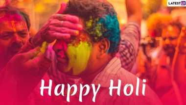 Holi 2020 Wishes & Images: WhatsApp Stickers, GIF Messages, Facebook Greetings, SMS, Status and DPs to Mark Rangwali Holi