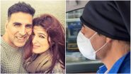 Masked Akshay Kumar Drives Wife Twinkle Khanna to the Hospital as She Breaks Her Foot (Watch Video)
