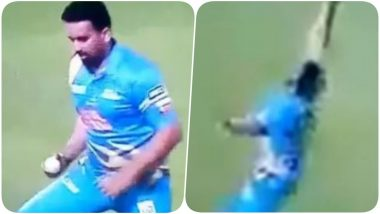 Zaheer Khan Gives Young Cricketers a Run for their Money as He grabs a Stunning One Handed Catch During Road Safety World Series 2020 India vs West Indies (Watch Video)