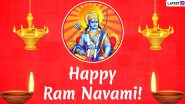 Shree Ram Navami 2020 Wishes and Images: Send WhatsApp Stickers, Lord Rama Photos, GIFs and Facebook Greetings to Celebrate Rama's Birth