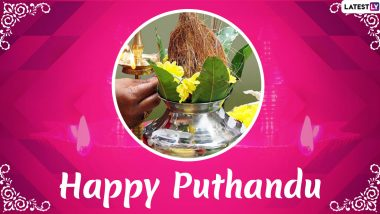 Happy Puthandu 2020 Wishes & Puthandu Vazthukal HD Images: WhatsApp Stickers, Messages, GIFs and SMS to Send Greetings on Tamil New Year