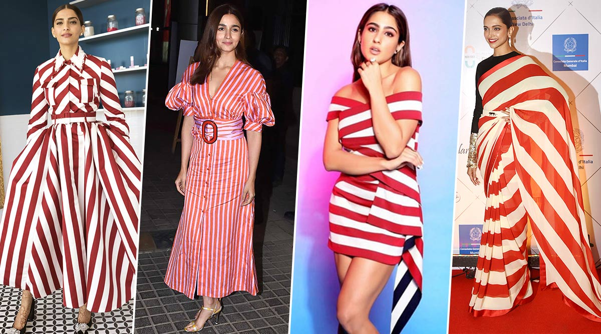 Deepika Padukone, Alia Bhatt and Sonam Kapoor's Obsession for Candy-Cane Fashion is Like a Merry Little Christmas Treat for Us (View Pics)