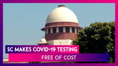SC Makes COVID-19 Testing Free Of Cost, Directs Private Labs Not To Charge Fee For Testing