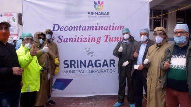 Coronavirus in J&K: Srinagar Civic Body Replicates China and Turkey, Installs 'Decontamination, Sanitising Tunnel' Outside CD Hospital