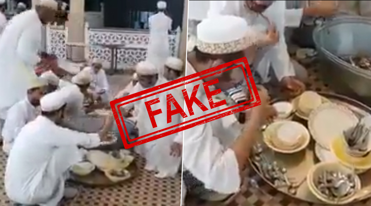 'Muslims Licking Utensils' to Spread Coronavirus? Old Video of A Tradition Doing Rounds on Social Media With False Claims; Here's The Complete Truth