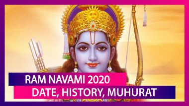 Ram Navami 2020: Date, Significance, Tithi & Madhyanha Muhurat Associated With Lord Rama's Birth