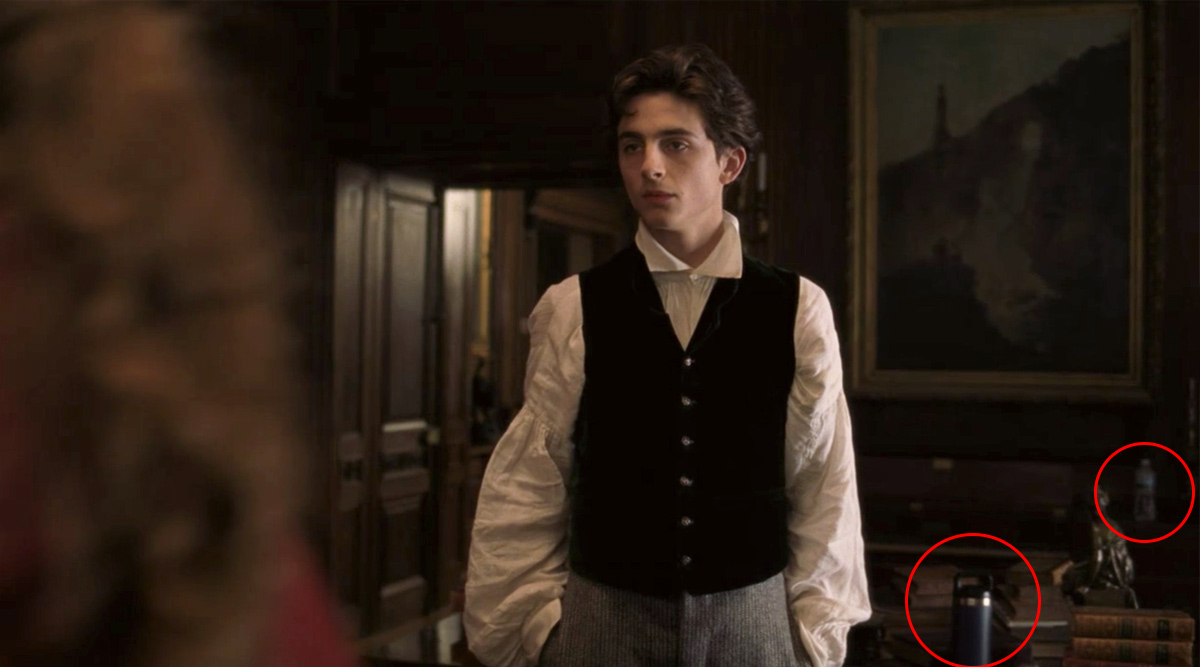 After Game Of Thrones Coffee Cup Gaffe, Fans Spot a Modern Hydro Flask and Water Bottle in Timothee Chalamet's Scene from Little Women
