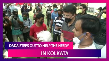 Sourav Ganguly, BCCI President, Distributes Food Packets To Needy People In Kolkata Amid Lockdown