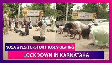 Covid-19 Lockdown Violators In Karnataka Made To Perform Yoga, Push-Ups By Police