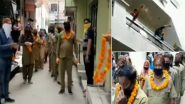 Ambala Locals Offer Garlands to Sanitation Workers, Applaud Their Work by Showering Flower Petals on Them; Watch Video