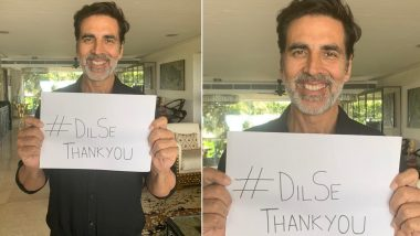 #DilSeThankYou! Akshay Kumar Thanks All the Doctors, Cops, Vendors and Government Officials for Helping Fight the COVID-19 Crisis