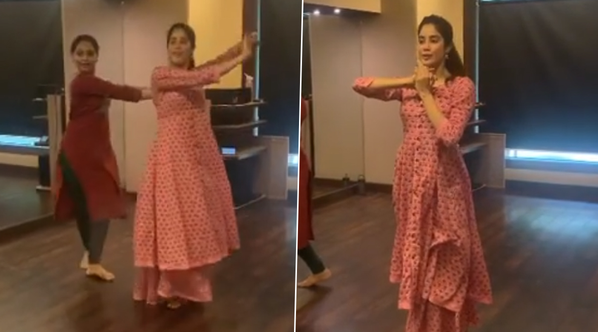 Janhvi Kapoor's Graceful Classical Dance Moves Won't Let You Blink Your Eyes (Watch Video)