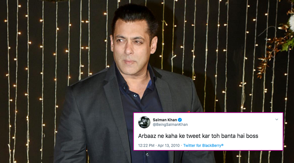 Salman Khan Completes 10 Years on Twitter, Fans Trend #10YearsOfSalmanOnTwitter Sharing His First Tweet From 2010