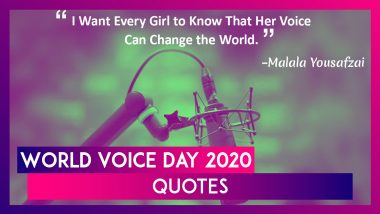 World Voice Day 2020: Quotes That Speak Volumes On The Power Of Voice