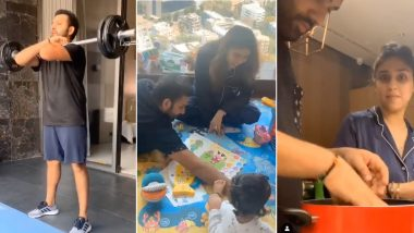 Rohit Sharma's Day in Lockdown: From Playing With Daughter Samaira to Helping Wife Ritika Sajdeh, This Is How Mumbai Indians Captain Is Spending His Time in Self-Quarantine
