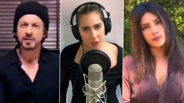 Shah Rukh Khan and Priyanka Chopra Jonas Join Lady Gaga's 'One World Special' to Celebrate COVID-19 Warriors (Watch Video)