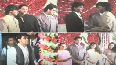 Thursday Throwback: When Ajay Devgn Welcomed and Hugged Akshay Kumar, Salman Khan and Others Like a True Baaraati at His Sister's Wedding Reception (Watch Rare Video)