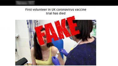 Elisa Granato Death Hoax: Report of Demise of UK's First Coronavirus Vaccine Trial Volunteer is Fake News