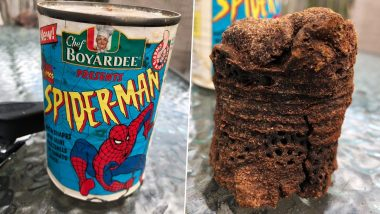 Spider-Man Pasta Can From 1995 Opened After 25 Years And The Contents Are Not What You Are Expecting! (See Pictures)