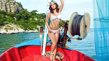 Sunny Leone Sets Instagram on Fire with her Throwback Picture in a White Bikini (View Pic)