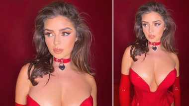 Sexy Demi Rose Shares Pic in a Boob-Spilling Deep-Neck Latex Dress with Choker Wishing She Was a 'Superhero' to 'Kick Corona's A*s'