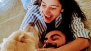Anushka Sharma Shares a Refreshingly Positive Post Amid COVID-19 Lockdown As Virat Kohli and Her Happily Pose With Their Adorable Dog (View Pic)