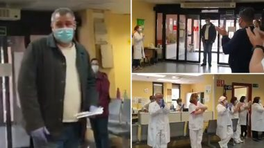 Spanish Taxi Driver Who Takes Coronavirus Patients to the Hospital for Free Receives Standing Ovation by Medical Workers! Video of the Selfless Frontline Worker in Surprise Goes Viral