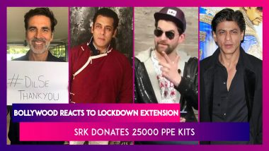 Bollywood Reacts To PM Modi's Decision to Extend The Lockdown, Shah Rukh Khan Donates 25000 PPE Kits
