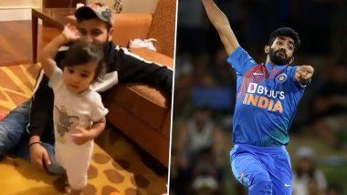 Rohit Sharma's Daughter Samaira Imitates Jasprit Bumrah's Bowling Action (Watch Video)