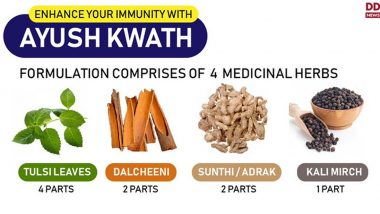 AYUSH Ministry Wants States to Manufacture 'Ayush Kwath', a Herbal Formulation to Boost Immunity