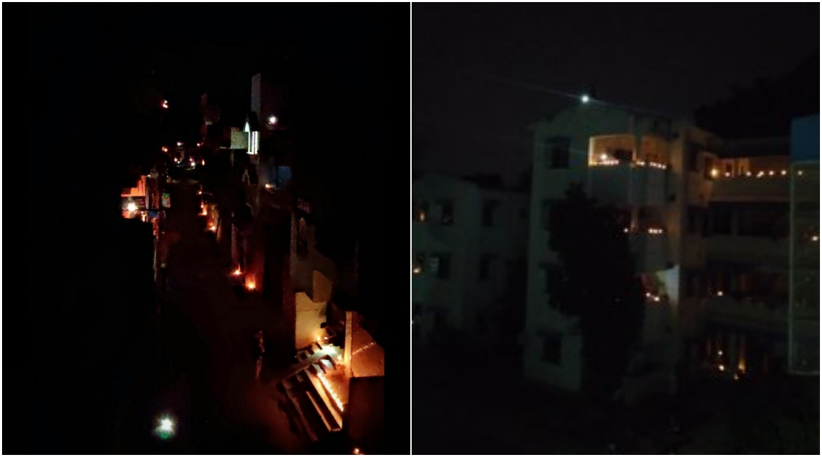 Indians Participate in #9PM9Minute Initiative by PM Modi, View Pics and Videos of #DiyaJalao Campaign; While Some COVIDIOTS Resort to Crackers and Fireworks