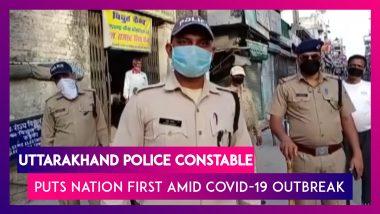 Uttarakhand Police Constable Laeek Ahmed Puts Nation First Amid Lockdown, Postpones His Wedding