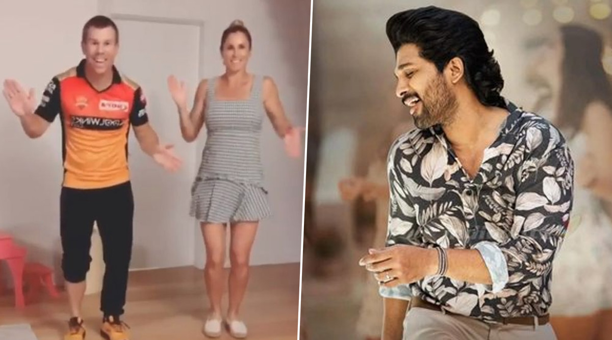 Cricket News David Warner And Wife Candice Dance On Allu Arjun S Telugu Song Butta Bomma Watch Video Latestly