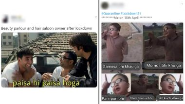 'Indians on April 15th' Funny Memes: Rushing to The Parlour To Hogging Favourite Food, Hopeful Netizens Share Jokes and Videos on Situation After Lockdown Ends