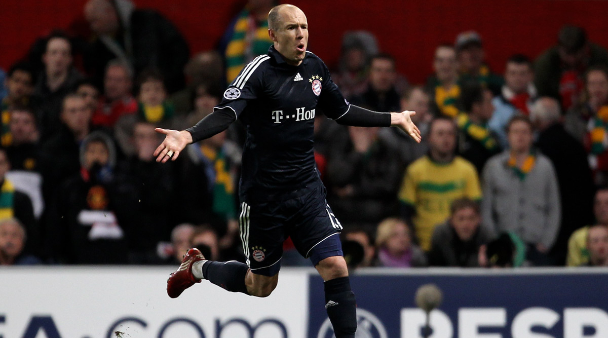 This Day, That Year: Arjen Robben's Volley Sends Manchester United Crashing Out of 2009-10 UEFA Champions League