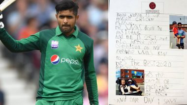 Babar Azam Gives an Overwhelming Reply to 5-Year Old Fan's Tribute, Says 'Study Hard, Play Harder'