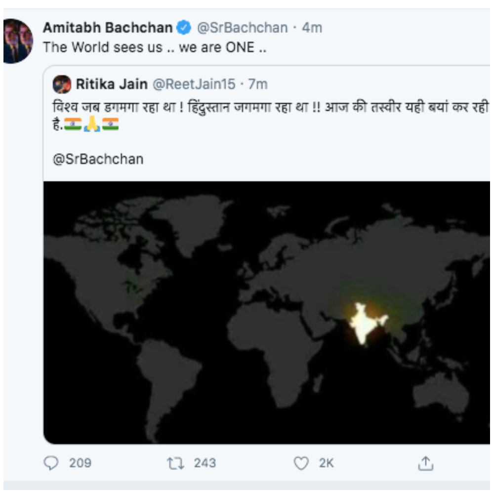 Fake NASA Satellite Pic of India Celebrating Diwali on 5th April 9 ...