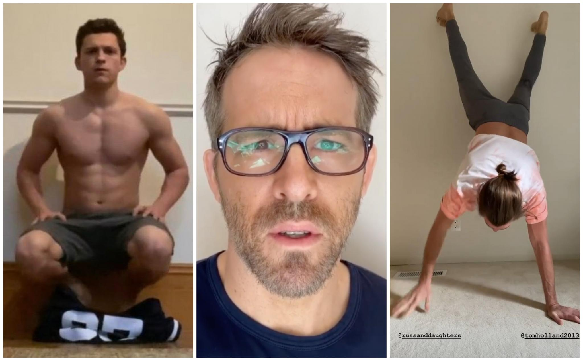 Tom Holland Nominated Jake Gyllenhaal and Ryan Reynolds to Take the Shirtless Handstand Challenge and Here's What Happened! (Watch Videos)