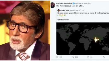 Fake NASA Satellite Pic of India Celebrating Diwali on  April 5 9pm Reaches Amitabh Bachchan's Twitter Timeline!