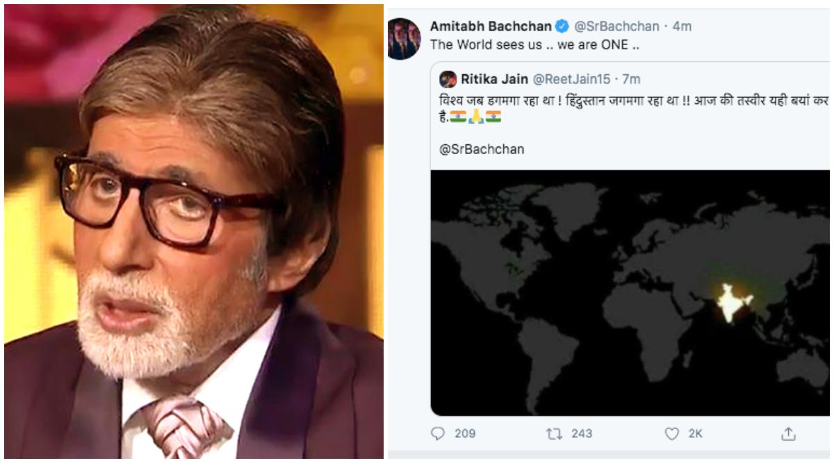 Fake NASA Satellite Pic of India Celebrating Diwali on 5th April 9 PM Reaches Amitabh Bachchan's Twitter Timeline! Big B Falls for it Again