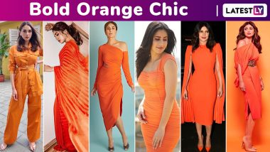 When Priyanka Chopra, Katrina Kaif, Kareena Kapoor Khan, Bhumi Pednekar Flaunted Their Love for the Happiest Hue, Bold Orange!