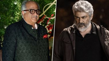 Valimai: Sad News, Thala Fans! Boney Kapoor's Tweet Confirms First Look or Trailer of Ajith Kumar's Next Will Not Release on His Birthday (View Post)