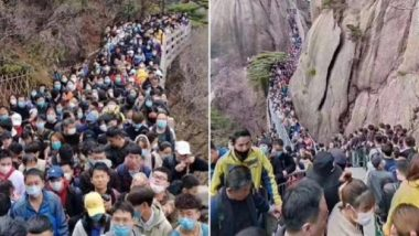 China's Tourism Resumes, Nature Trail Site Jam Packed Even as World Continues Battle Against Coronavirus (Watch Video)