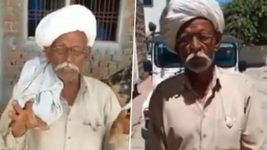 Rajasthan: Old Man Says Owls Can Cure Coronavirus, Apologises and Advises People to Stay Home After Being Confronted by Police (Watch Funny Video)