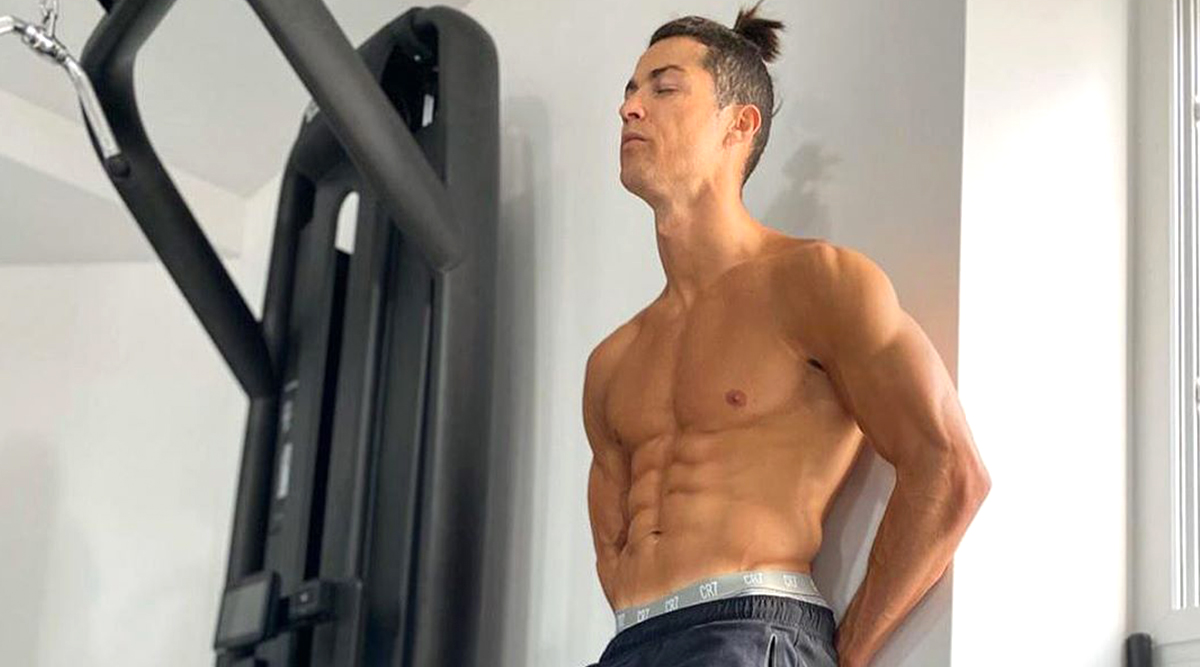 Cristiano Ronaldo Flaunts Abs While Relaxing After Exercise Session During Self-Quarantine (See Picture)