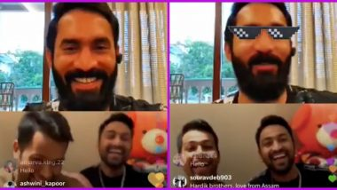 Watch the Unseen Side of KKR Captain Dinesh Karthik As He Trolls Pandya Brothers Krunal and Hardik During Instagram Live Session (See Funny Video)