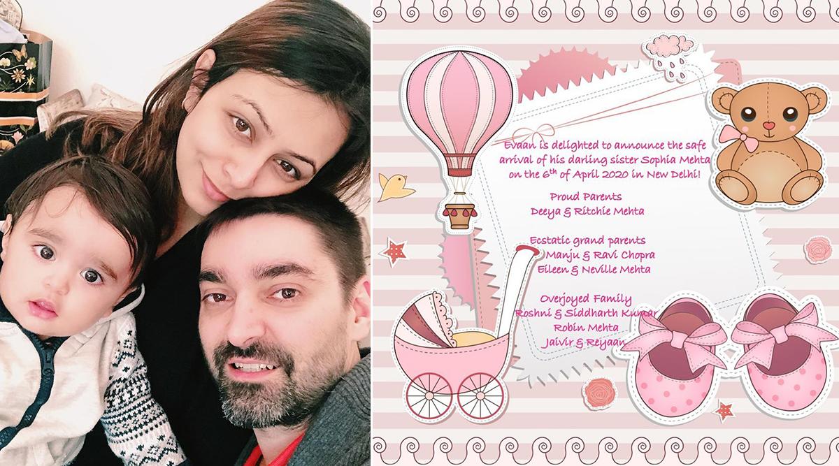 Left Right Left Actress Deeya Chopra Mehta and Husband Ritchie Mehta Welcome Baby Girl Sophia (View Post)