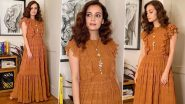 Dia Mirza Is Radiating Some Golden Glow and Oodles of Happiness in a Lust-Worthy Nikita Mhaisalkar Maxi Dress!