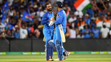 Dinesh Karthik Opens Up About Batting Above MS Dhoni in 2019 World Cup Semi-Final Against New Zealand, Says, 'It Came as a Surprise'